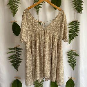 Chiffon Babydoll Leopard Dress